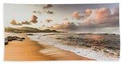Soothing Seaside Scene Beach Towel