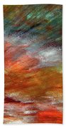 Sounds Of Thunder Abstract Beach Towel