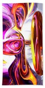 Soundwave Abstract Beach Towel