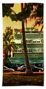 South Beach Ocean Drive Beach Towel