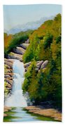 South Carolina Waterfall Beach Towel