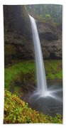 South Falls At Silver Falls State Park Beach Towel
