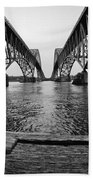 South Grand Island Bridge In Black And White Beach Sheet