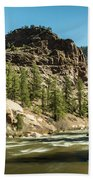 South Platte In Heavy Spring Flows And Wind Beach Towel