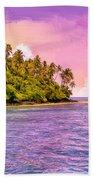 South Seas Sunset Beach Towel