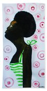 South Sudanese Lady Beach Towel