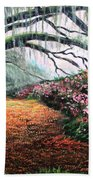 Southern Charm Oak And Azalea Beach Towel