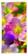 Southern Missouri Wildflowers 1 - Digital Paint 1 Beach Towel
