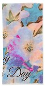 Southern Missouri Wildflowers -1 Mother's Day Card Beach Towel