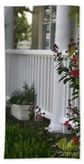 Southern Summer Flowers And Porch Beach Towel