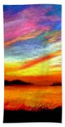 Southern Sunset Beach Towel