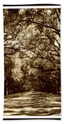 Southern Welcome In Sepia Beach Towel