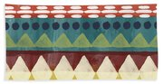 Southwest With Bears- Art By Linda Woods Beach Towel