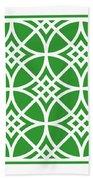 Southwestern Inspired With Border In Dublin Green Beach Towel