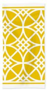 Southwestern Inspired With Border In Mustard Beach Towel
