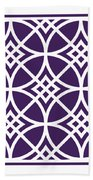 Southwestern Inspired With Border In Purple Beach Towel
