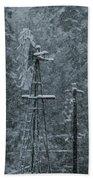 Southworth Windmill Snow Bound Beach Towel