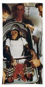 Space: Chimpanzee, 1961 Beach Towel