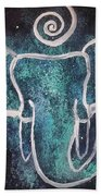 Space Elephant Spiral 2 Beach Towel