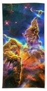 Space Image Mystic Mountain Carina Nebula Beach Towel