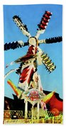 Space Racer In Distance Beach Towel