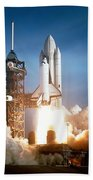 Space Shuttle Columbia - First Launch 1981 Beach Towel