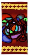 Space/time 14 - Harbour Lights Beach Towel