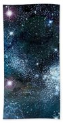 Space003 Beach Towel by Svetlana Sewell