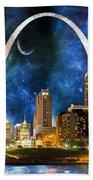 Spacey St. Louis Skyline Beach Towel