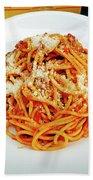 Spaghetti Bolognese Beach Towel