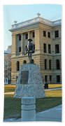 Spanish American War Memorial At Lucas County Courthouse 0098 Beach Towel
