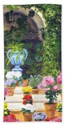 Spanish Courtyard Beach Towel