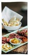 Spanish Smoked Meats Ham And Cheese Platter Starter Dish Beach Towel