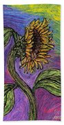 Spanish Sunflower Beach Towel