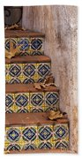 Spanish Tile Stair  Beach Towel
