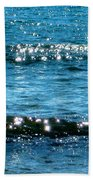 Sparkle Waves  Beach Towel