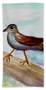 Sparrow On A Branch Beach Towel
