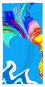 Speaking With Dolphins Beach Towel