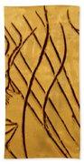 Speech Trails - Tile Beach Towel