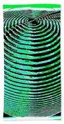 Sphere In Green Beach Towel