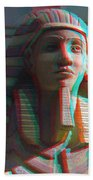 Sphinx - Use Red-cyan 3d Glasses Beach Towel