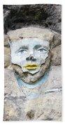 Sphinx - Rock Sculpture Beach Towel