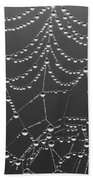 Spider Web Patterns Beach Towel