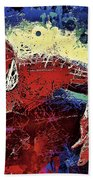 Spiderman Climbing  Beach Towel