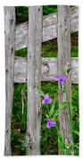 Spiderworts By The Gate Beach Towel