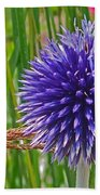 Spiky Blue Beach Towel