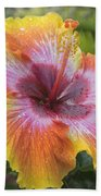 Spin The Bottle Hibiscus Beach Towel