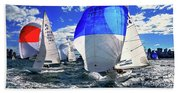 Spinnakers And Sails By Kaye Menner Beach Towel