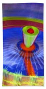 Spinning Fair Ride Beach Towel