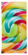 Spiral Candy  Beach Towel